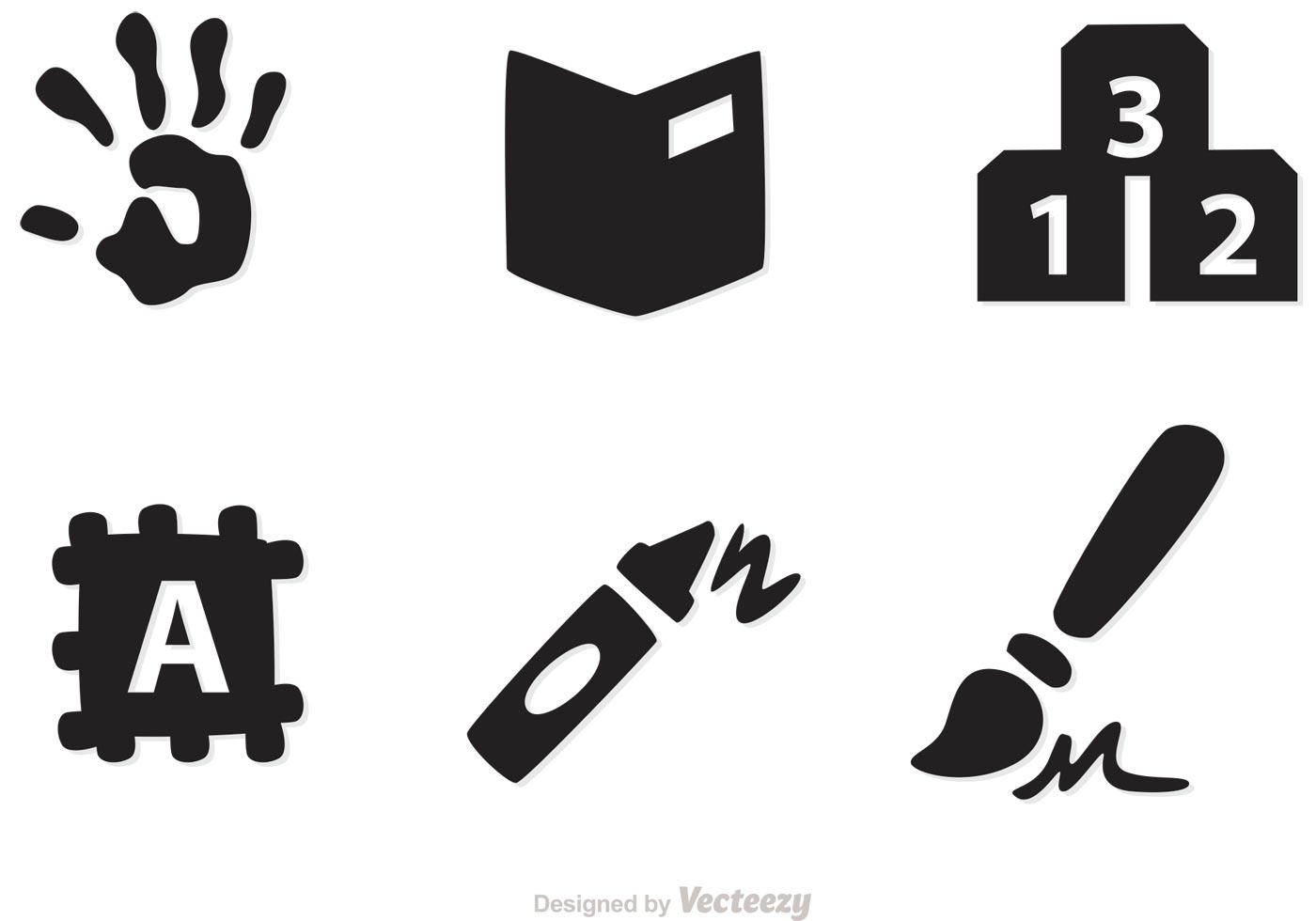 Preschool Icons Vectors