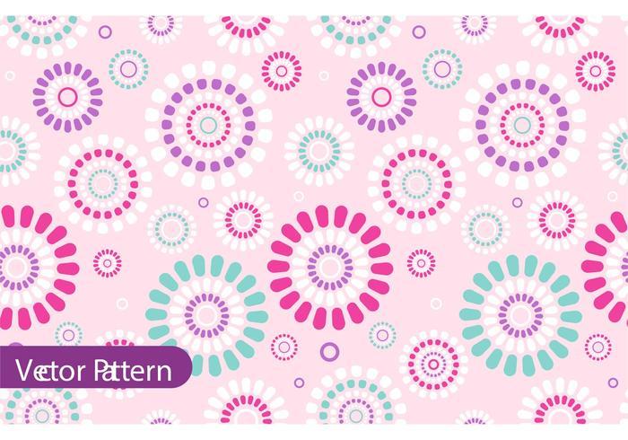 Retro Flower Pattern Vector Design - Download Free Vectors. Clipart Graphics & Vector Art