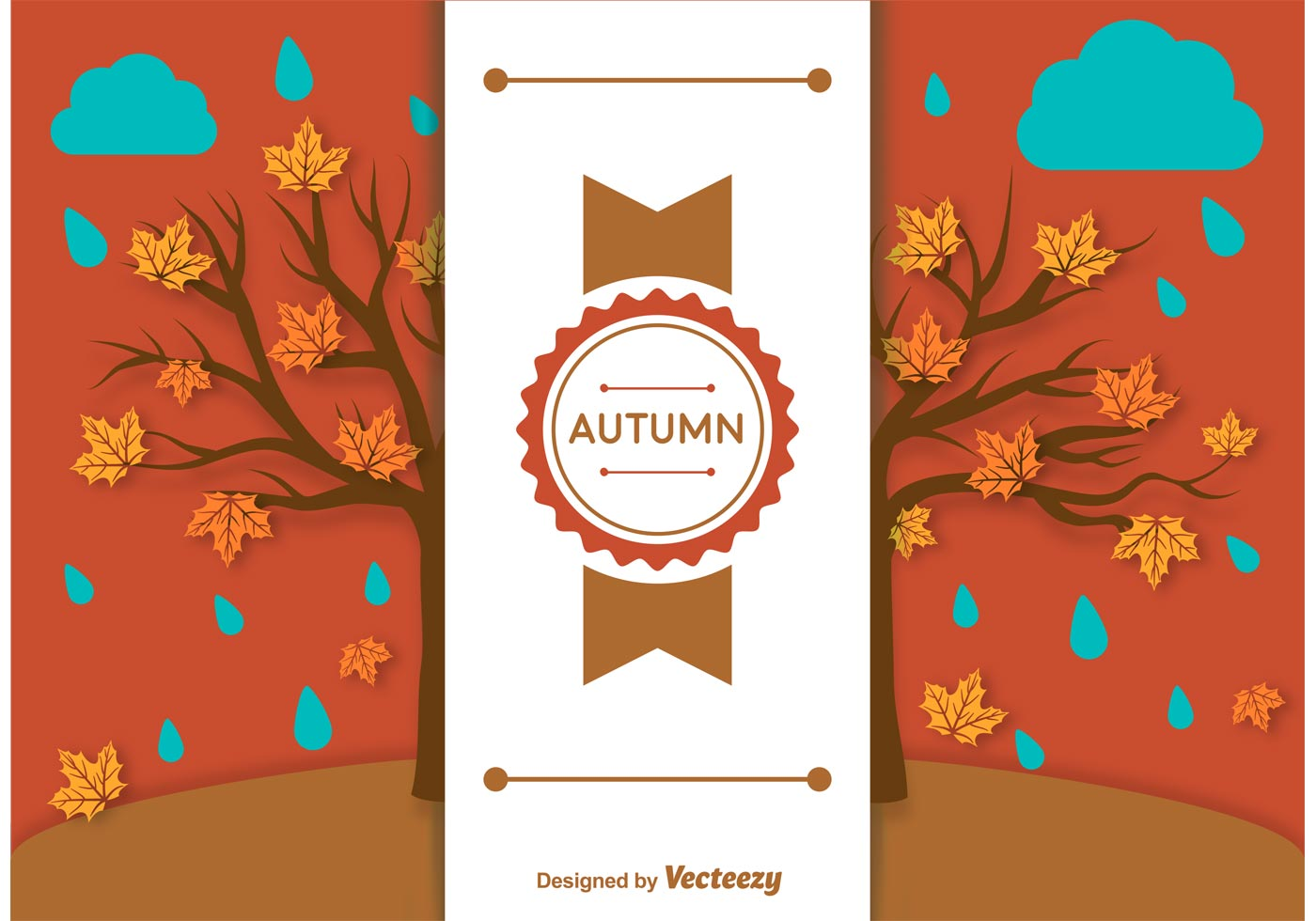 Fall Scarecrow Wallpaper Autumn Background Label Template Download Free Vector