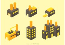 Isometric Factory Vector Icons - Free Art