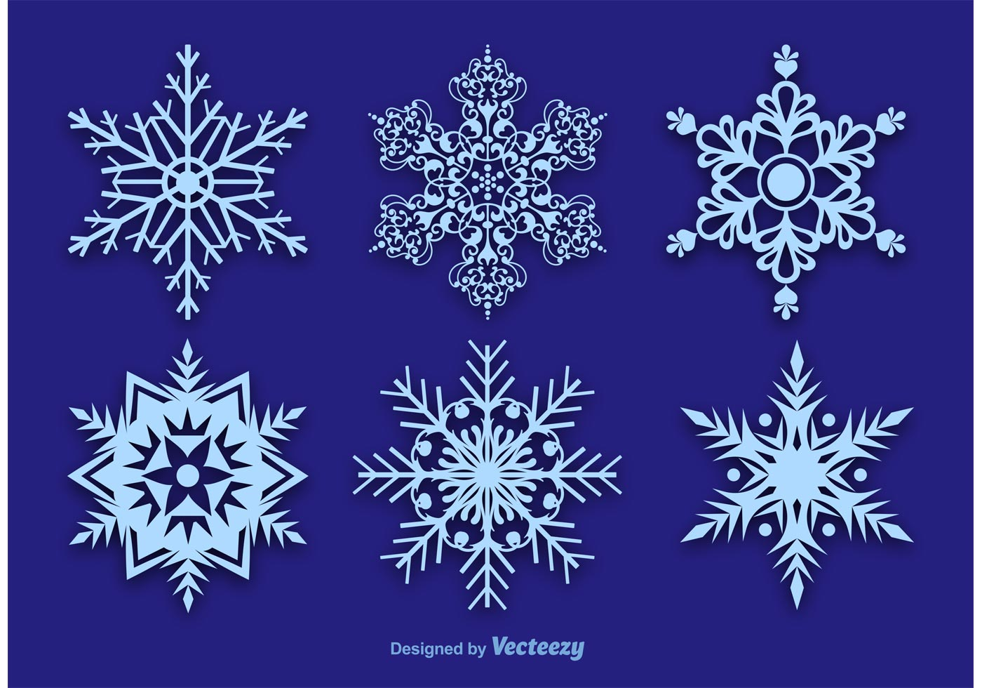 Snowflake Vector Decorations