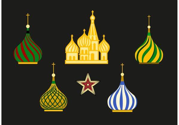 Russia Kremlin Vector Set - Free Art