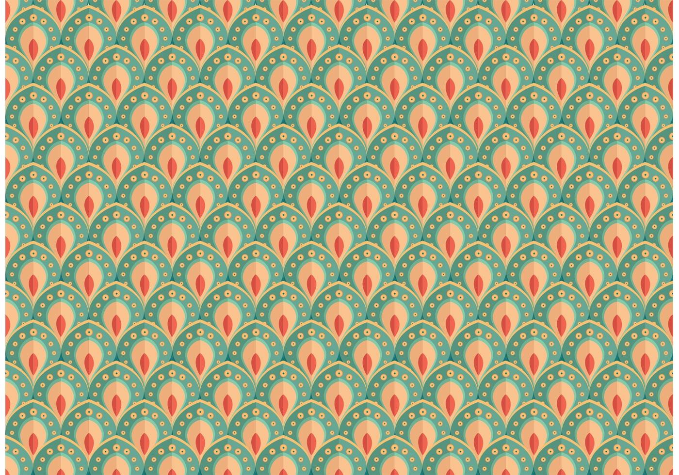 Pretty Peacock Pattern Vector Download Free Vectors