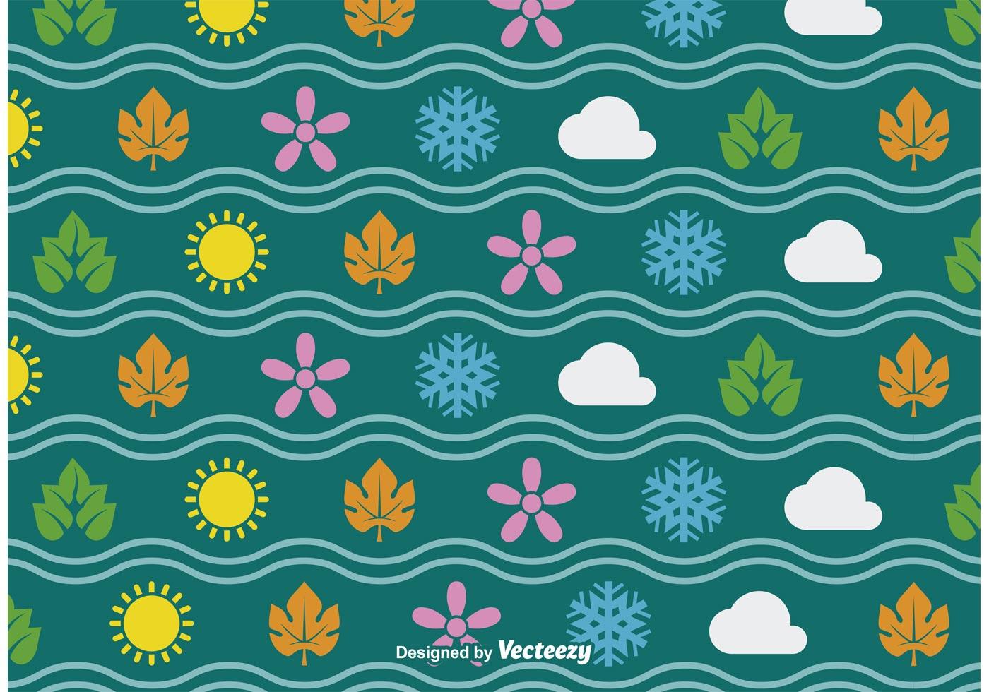 Fall Hedgehog Wallpaper Four Seasons Seamless Vector Pattern Download Free