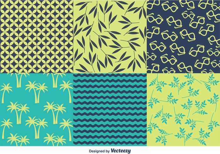 Spring And Summer Beach Pattern Vectors Download Free