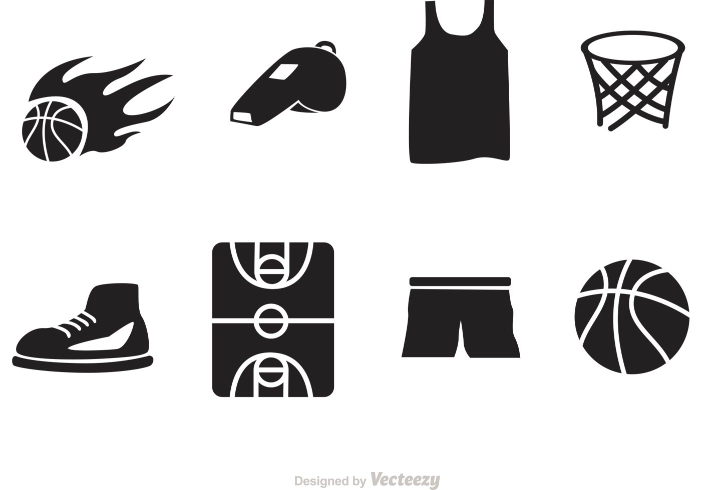 Basketball Vector Icons