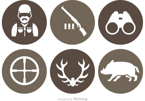 Hunting Vector Icons - Free Art Stock