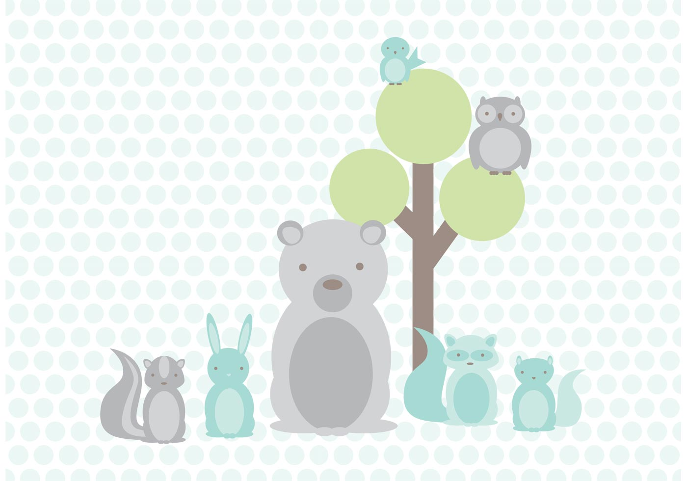 Cute Notepad Wallpaper Baby Woodland Friends Vector Download Free Vectors
