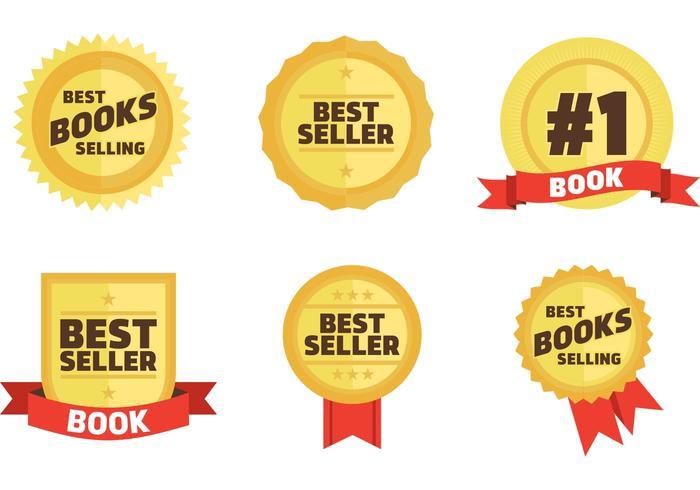 best sellers book badges