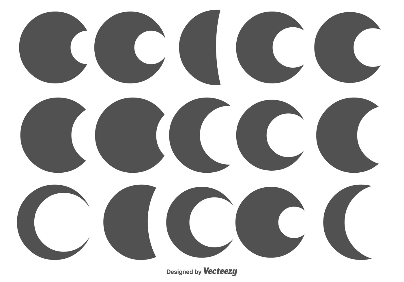 Assorted Circle Moon Shapes