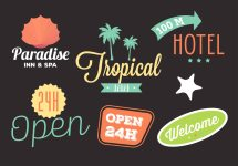 Collection Of Hotel Logos In Vector