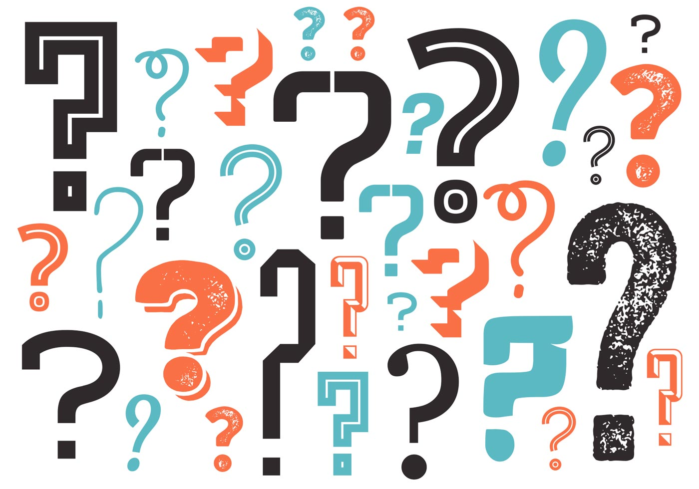 Question Mark Background In Vector