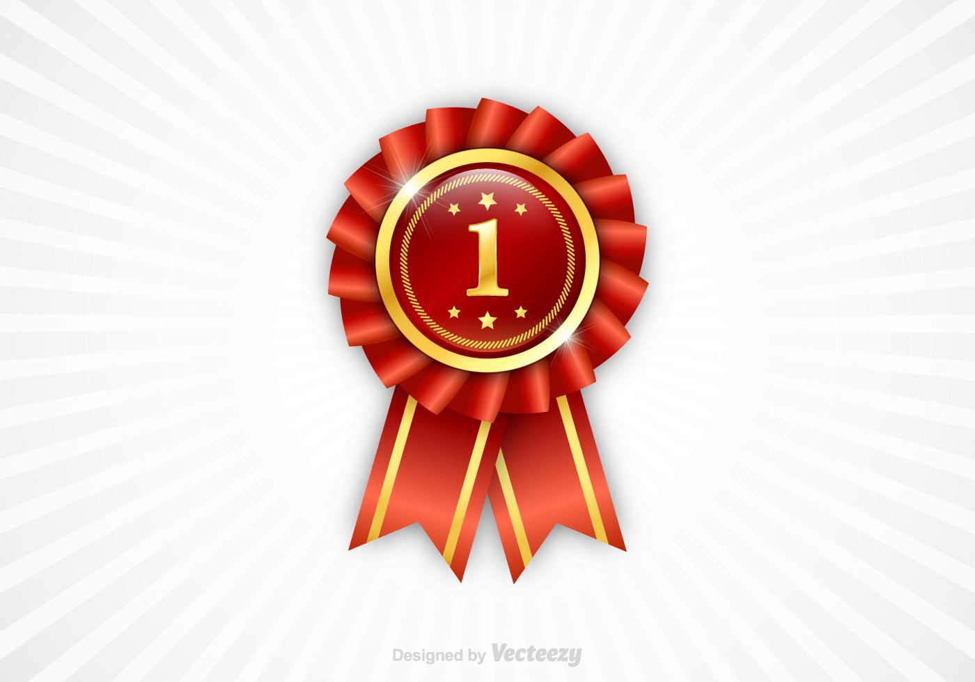 Free First Place Ribbon Vector