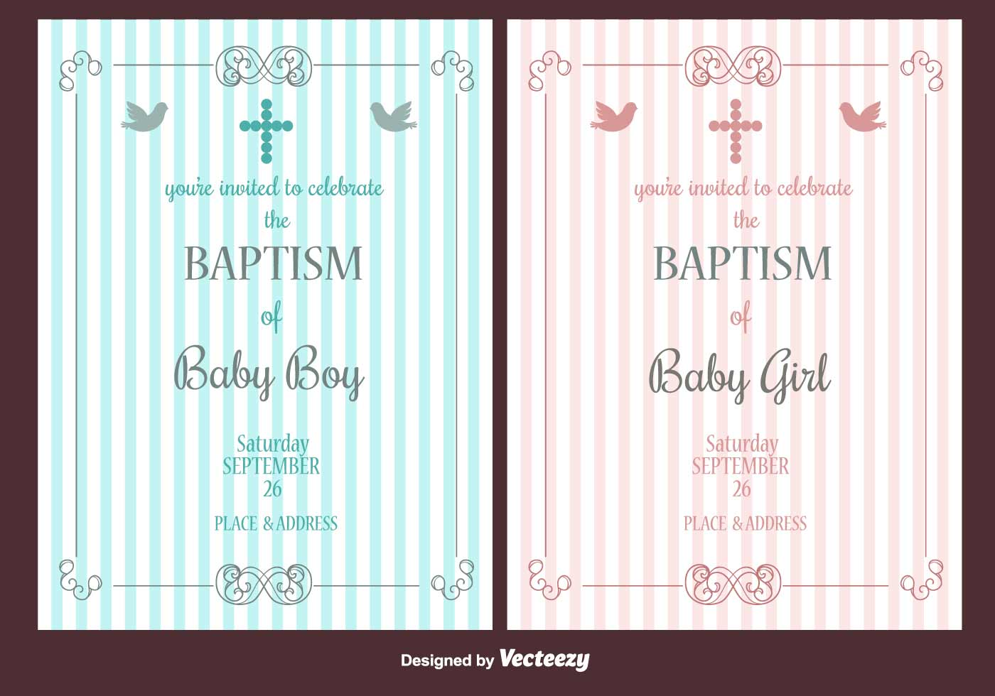 Joint Christening Invitations