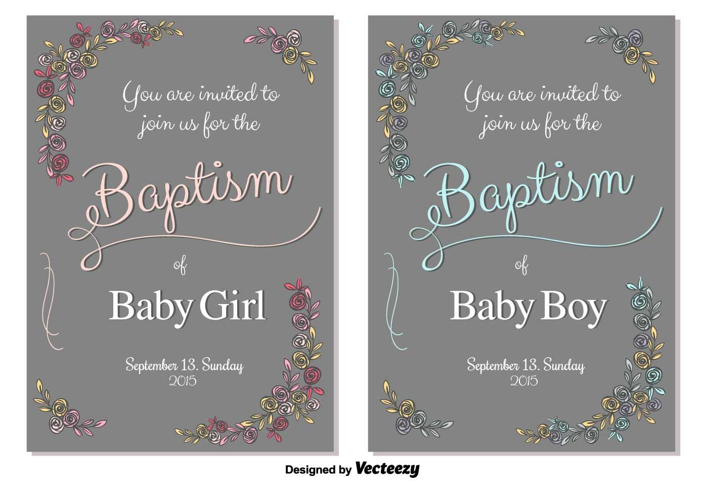 Baptism Baby Boy Invitation