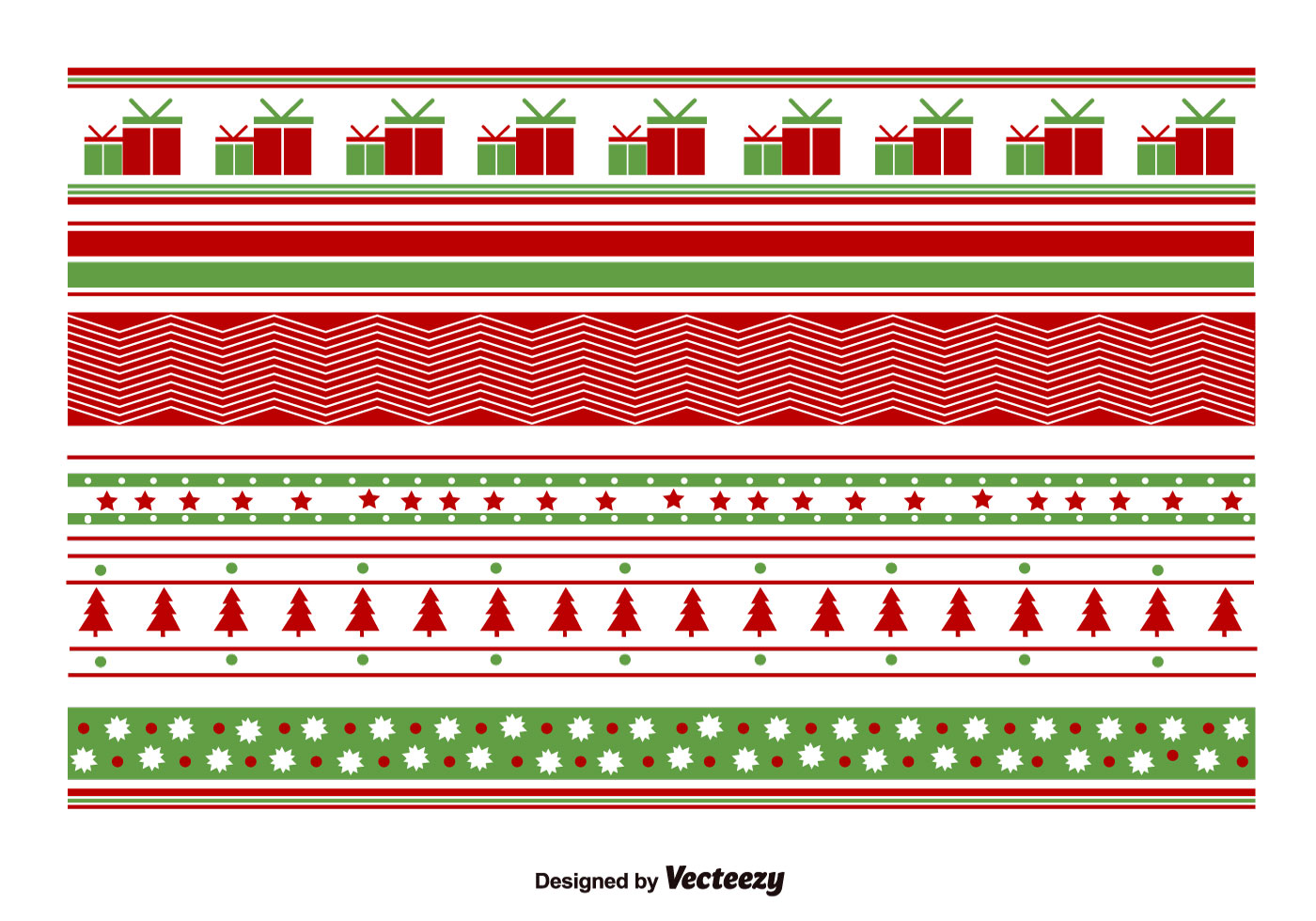 Geometrical Christmas Patterns Download Free Vector Art