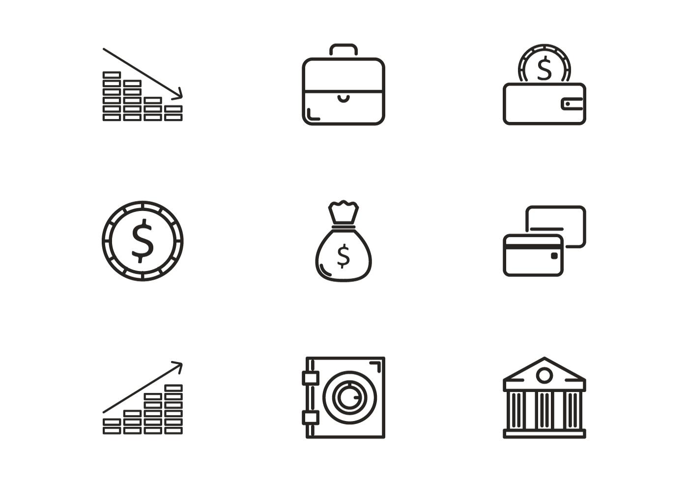 Bank Icon Vectors