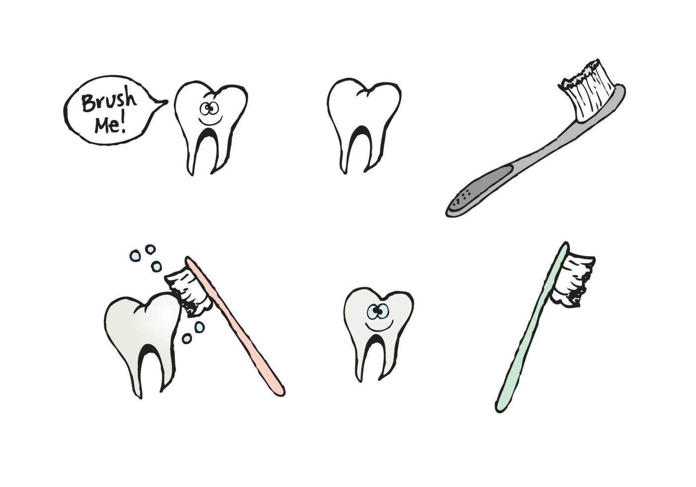 Free Brushing Teeth Vector Series
