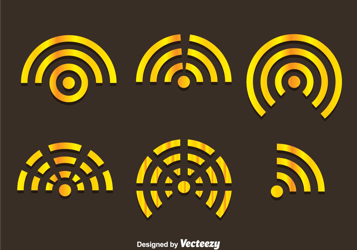 Gold Wifi Logo Vectors Download Free Vector Art Stock Graphics Amp Images