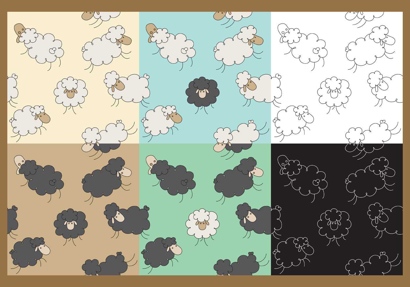 Wallpaper Doodle Cute Vector Sheep Patterns Download Free Vector Art Stock
