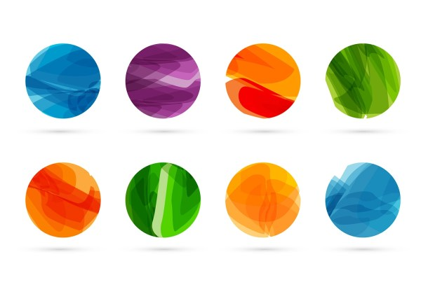 Abstract Vector Shapes Circle S