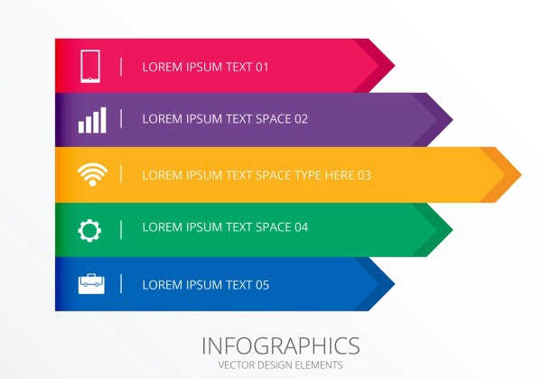 Infographic Banners And Header Set Vectors - Free