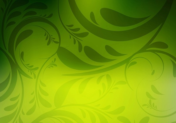 Floral Green Colorful Background - Free Vector