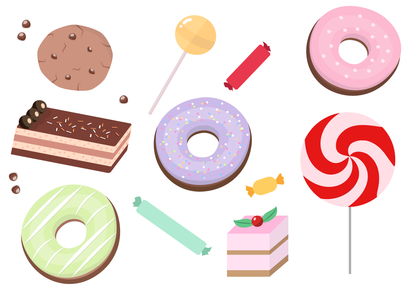 Cute Popsicle Wallpaper Free Sweets Vector Download Free Vector Art Stock