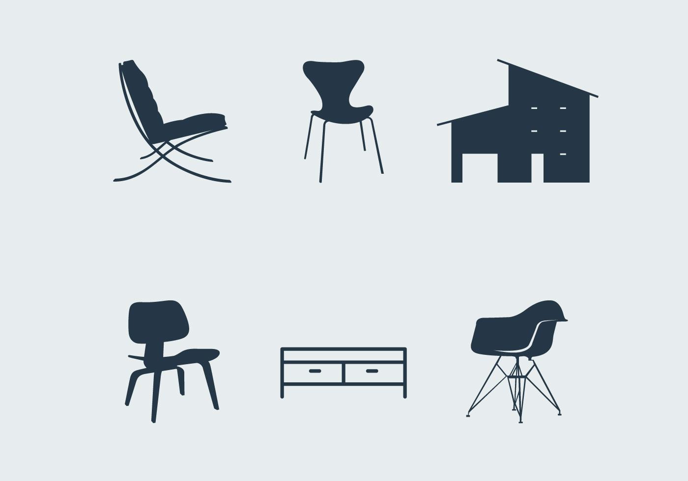 Midcentury modern furniture  Download Free Vector Art