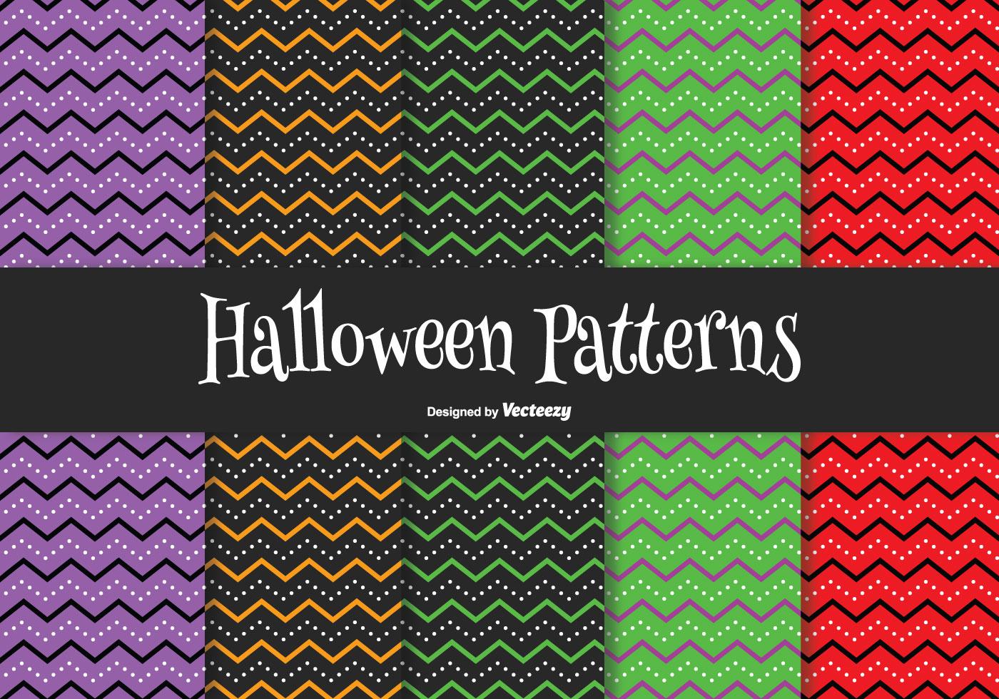 Spooky Fall Wallpaper Halloween Pattern Set Download Free Vector Art Stock