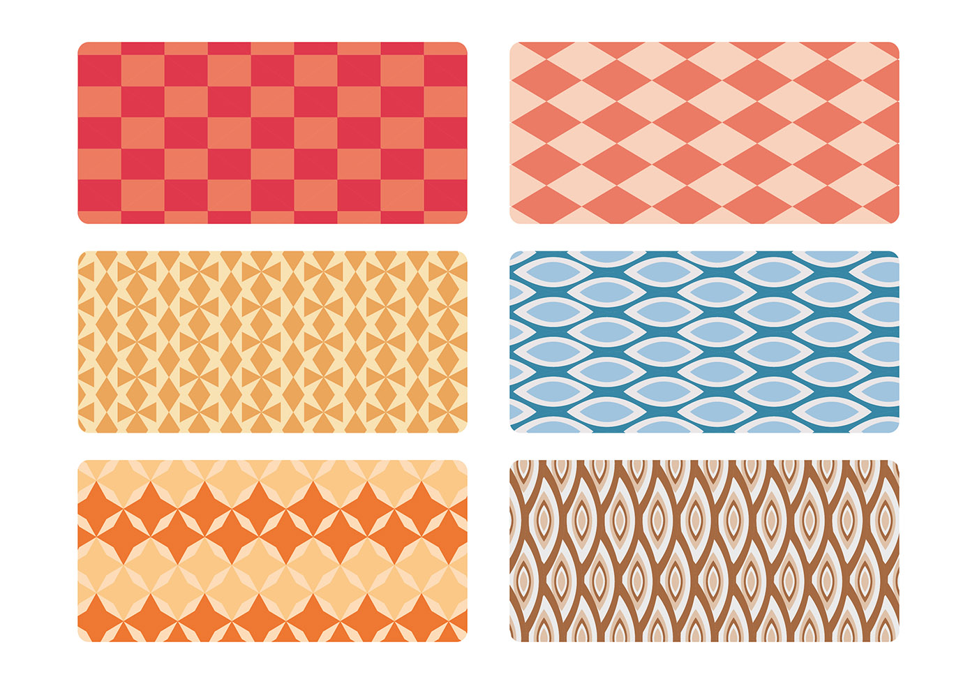 modern living room furnitures furniture tables mid century pattern vector set - download free art ...