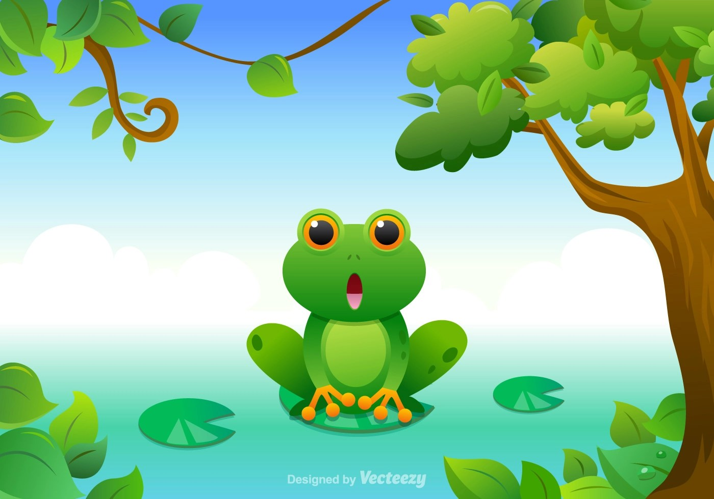 hight resolution of free cartoon green tree frog vector download free vector art stock graphics images