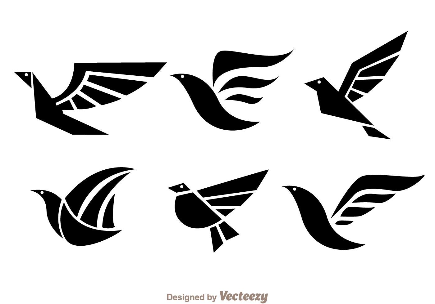 Bird Black Logo Vectors