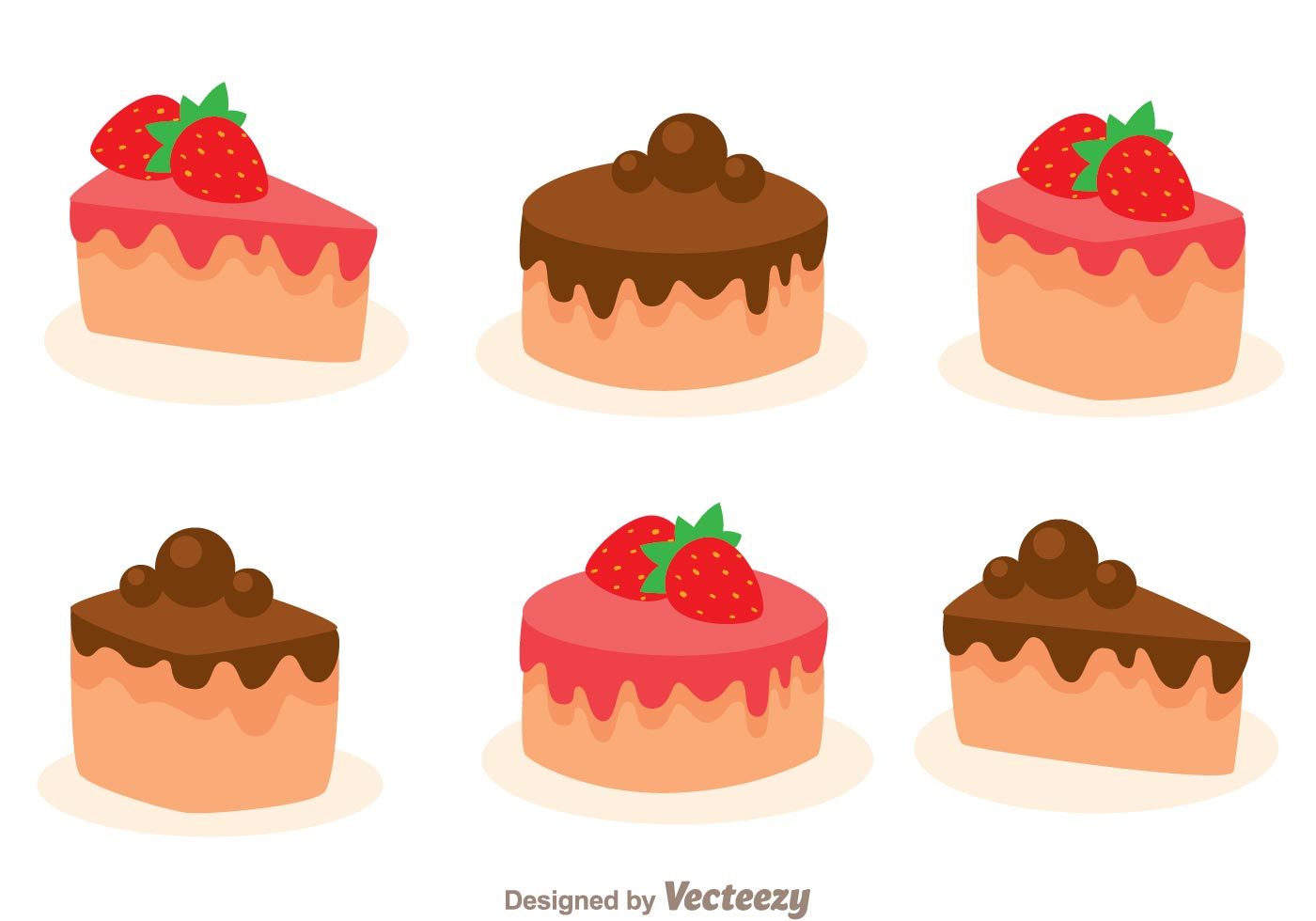hight resolution of stawberry and choco cake slice download free vector art stock graphics images
