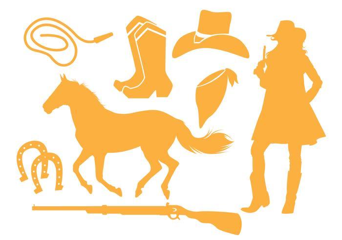 Download Cowgirl Silhouette Vectors - Download Free Vector Art ...