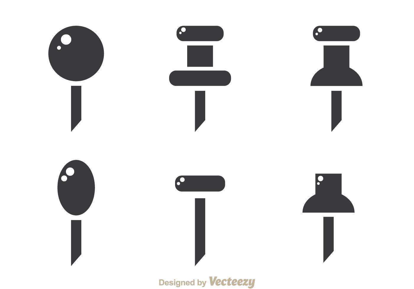 Push Pin Note Free Vector Art