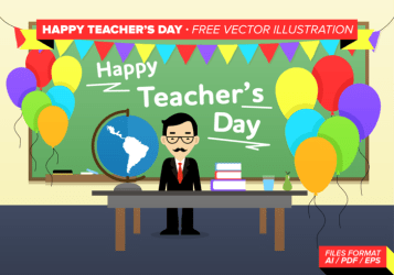 teachers teacher happy vector date social illustration clipart background science month theory versus political capital card graphics celebrated country economy