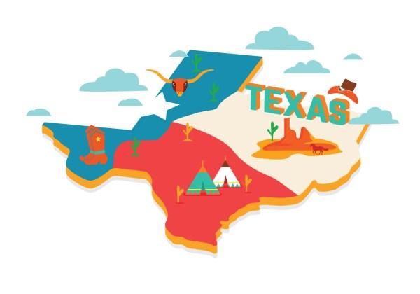Texas Map Vector - Free Art Stock