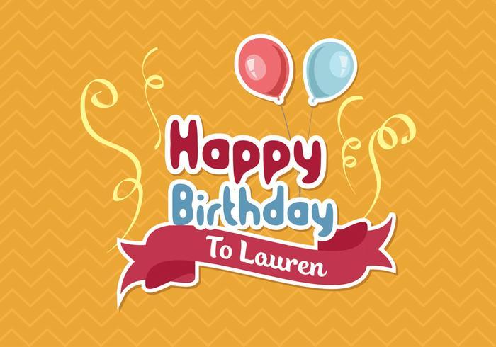 Happy Birthday Invitation Card Template