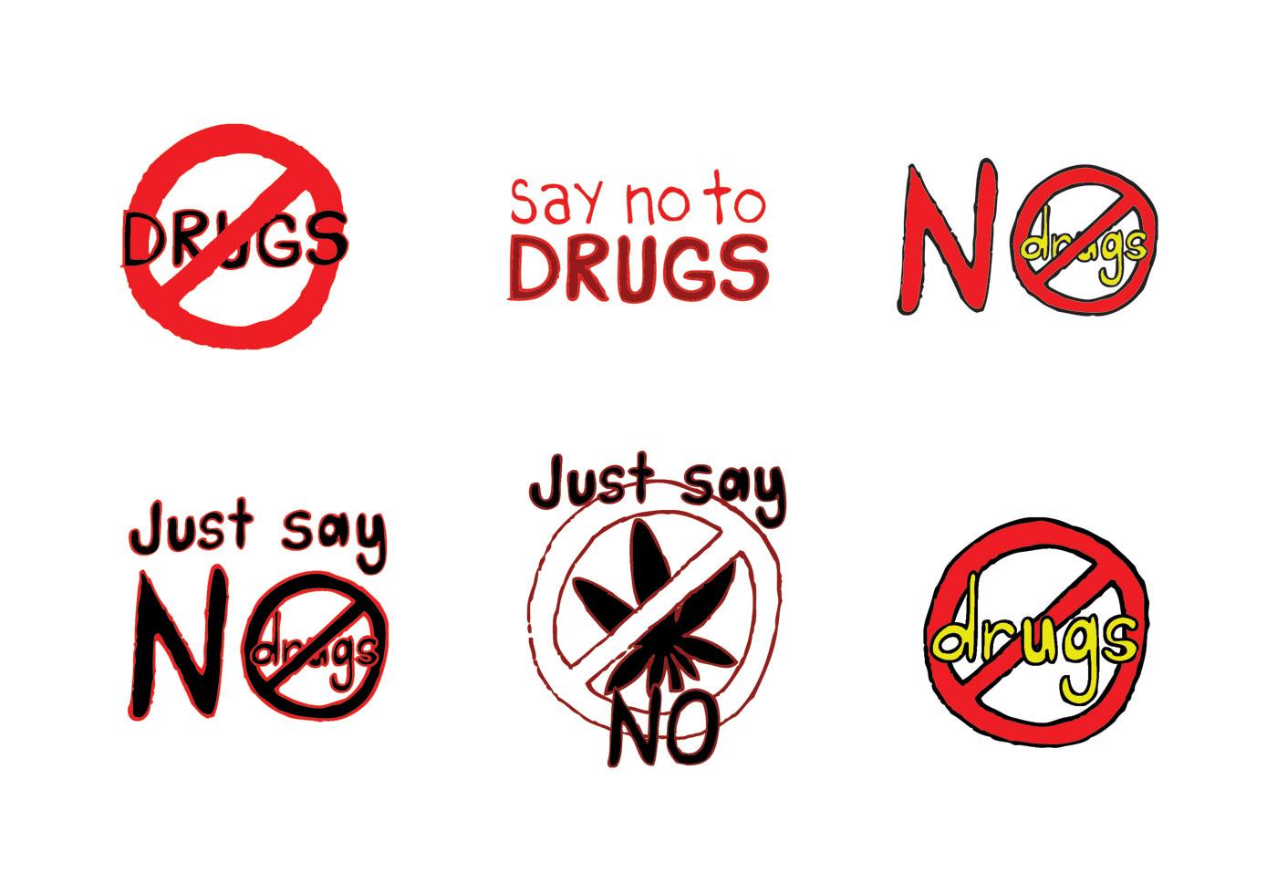 Free No Drugs Vector Series