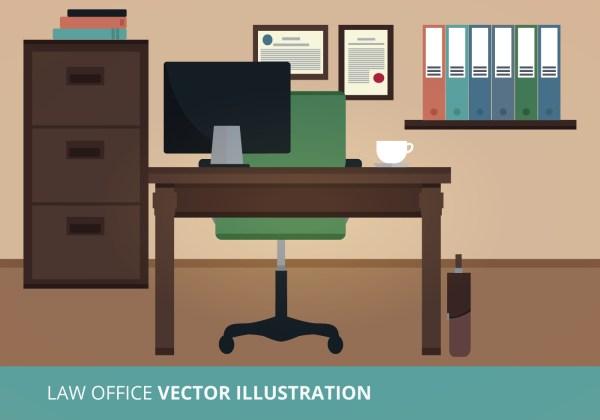 Law Office Vector Illustration - Free Art