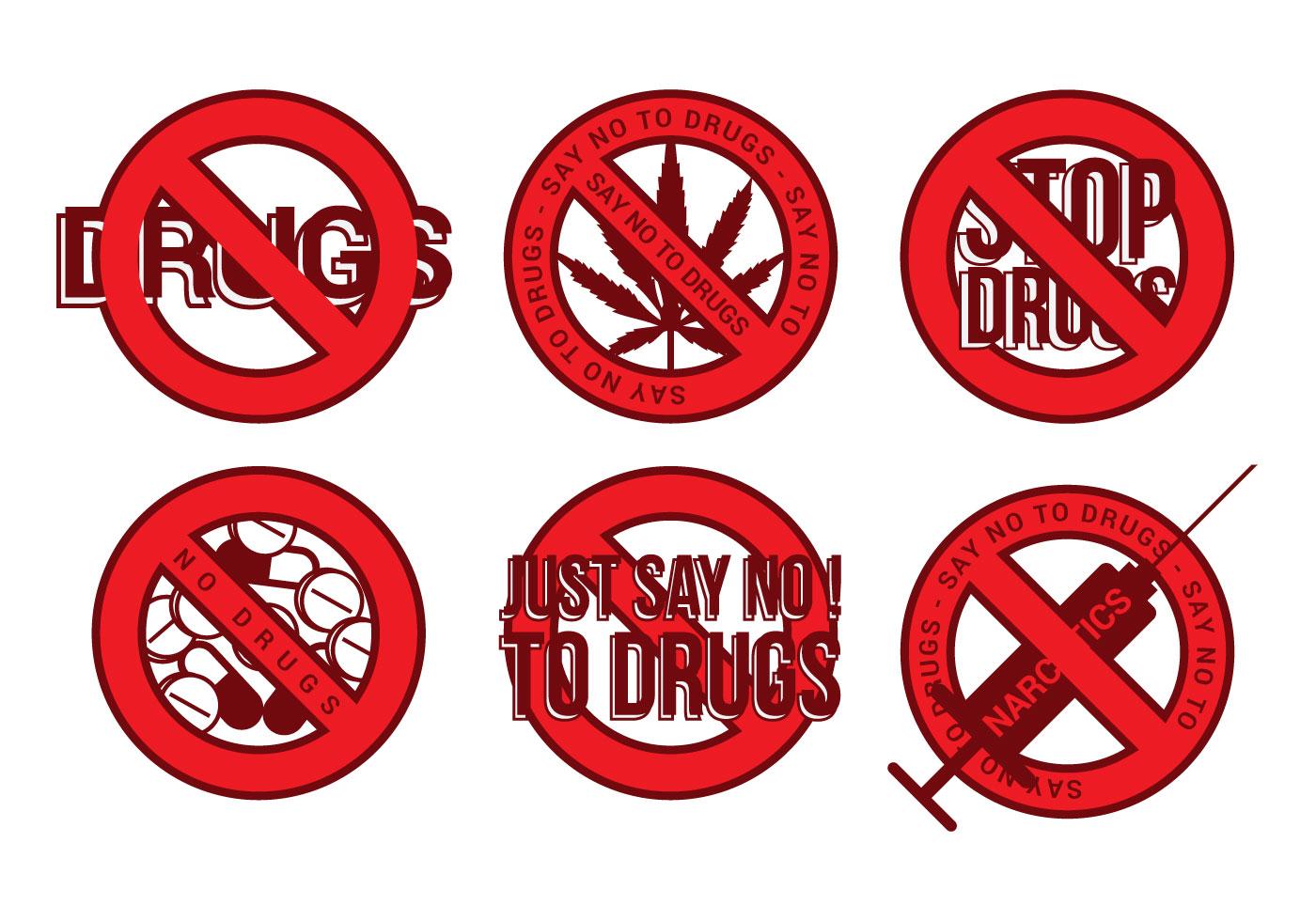 No Drugs Icon Vector