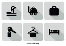 Hotel Service Icon Set - Free Vector Art Stock