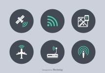Wifi Technology Vector Icons - Free Art