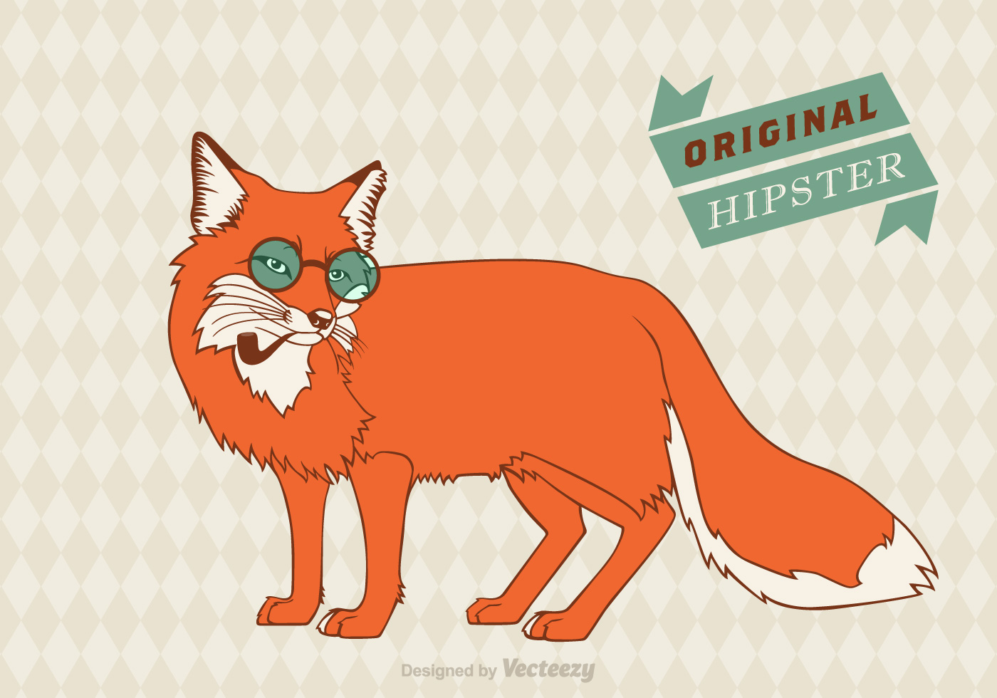 Free Hipster Fox Vector Background Download Free Vector