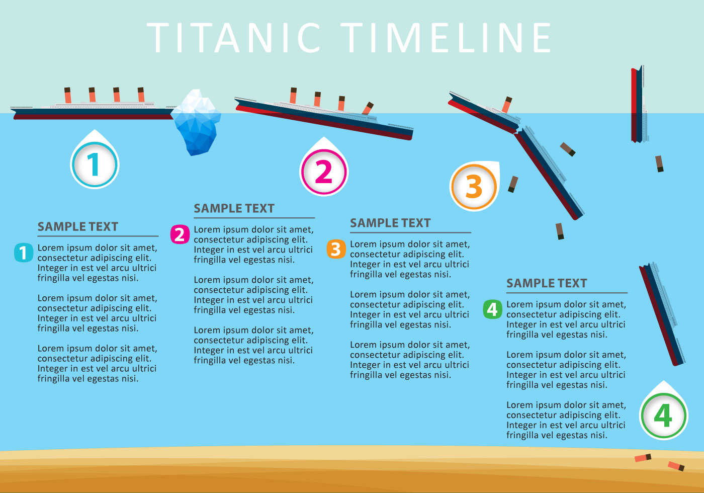 hight resolution of vector titanic timeline download free vector art stock graphics images