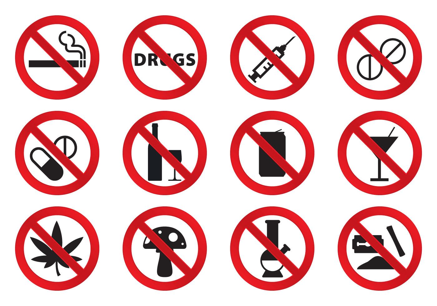 Keine Drogen Icons