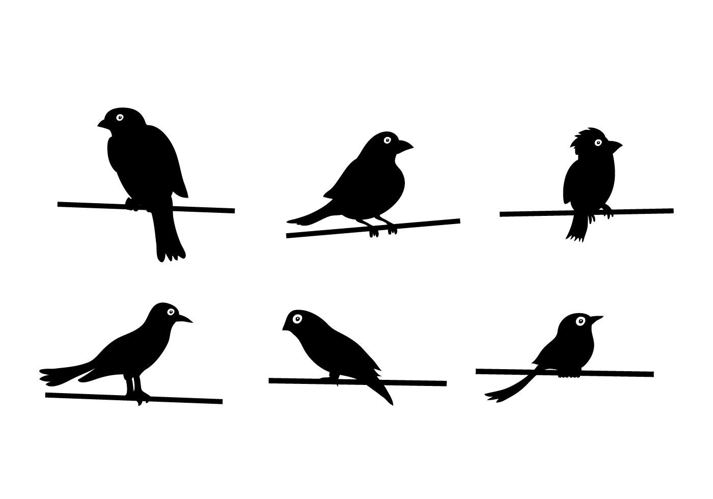 Bird On Wire Vector