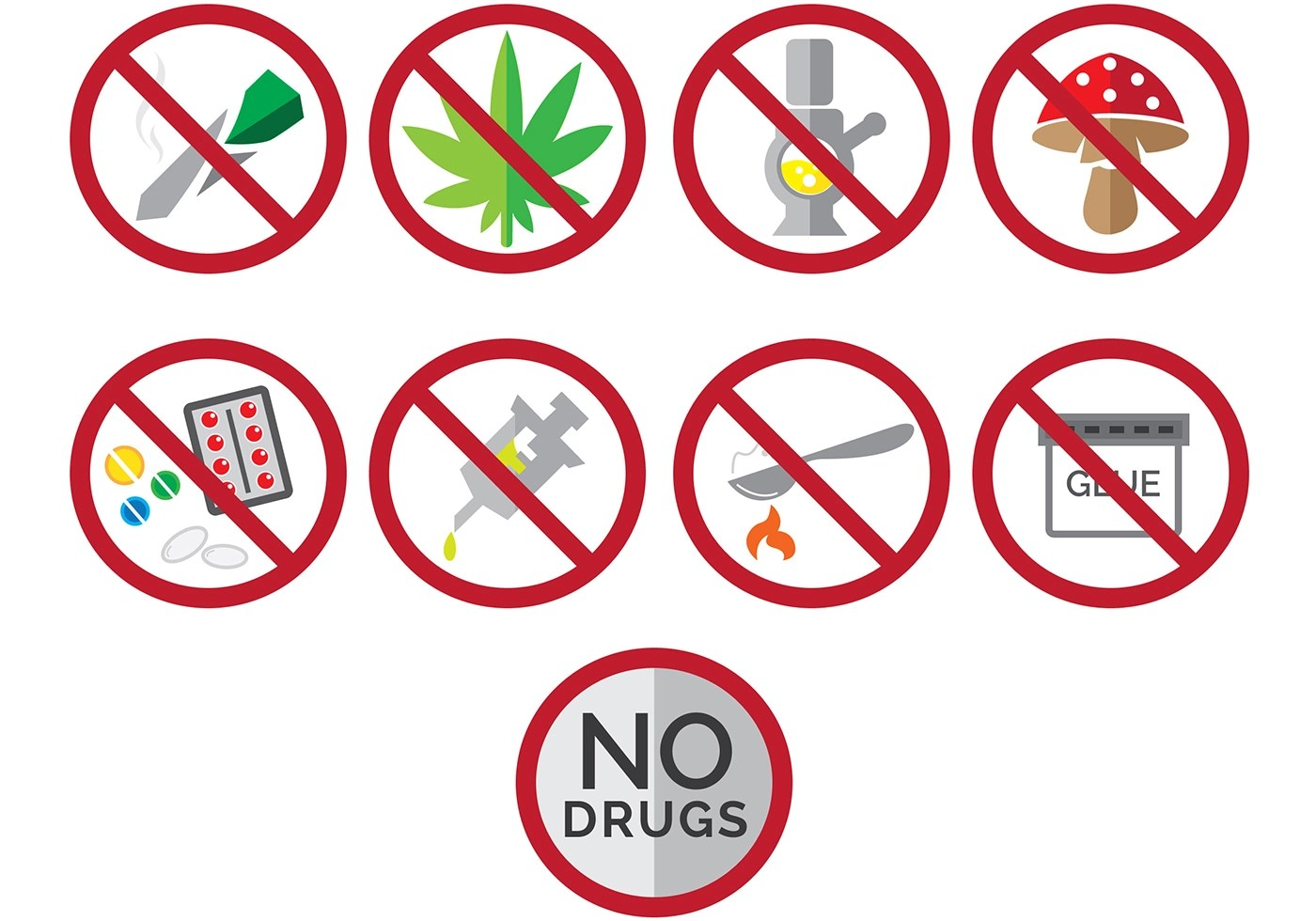 Say No To Drugs Free Vector Art