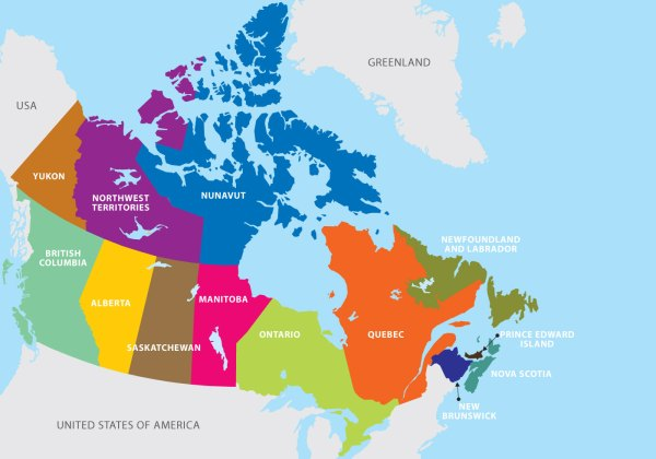Free Vector Map of Us and Canada
